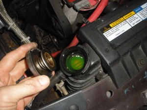 Checking coolant fluid